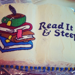 Read It & Steep cake